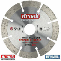 "115mm 4.5"" General Purpose Diamond Blade Disc Stone, Concrete, Brick DRAAK"