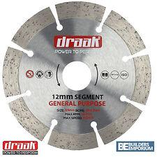 """115mm 4.5"""" Propósito General Hoja de Diamante Disco de piedra, hormigón, ladrillo Draak"""