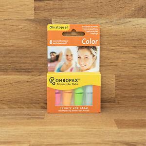 Ohropax Color Schaumstoffstöpsel - Lärmschutz  - 8Stk. in bunt