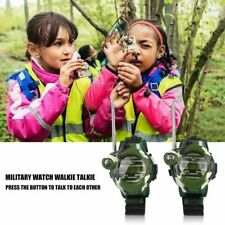 2X Outdoor 7 In 1 Wrist Watch Intercom Set Toy Interphone Walkie Talkie Kid Gift