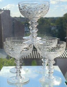 ROYAL BRIERLEY QUALITY VINTAGE CHAMPAGNE GLASS/ COUPS  X 6
