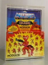 Rare Vintage He-Man MODULOK Mattel  Figure 1984 100% complete with display case