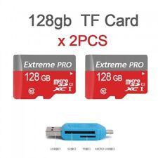 2 x 128 GB Micro sd sdxc Speicherkarte CLASS 10 TF Memory Card PRO