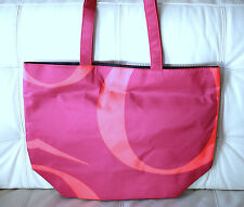 New Purple & Coral Lancome Shopping Tote Beach Travel Bag X-Large