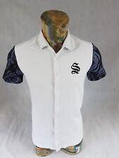 Sinners Attire Mens Shirt White Short Sleeve 100% Cotton