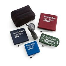 Welch Allyn DuraShock DS66 Trigger Aneroid Sphygmomanometer; 4 Cuff Kit; Case