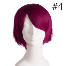 UNISEX Male Female Straight Short Hair Wig Cosplay Party Anime Full Wigs Colors