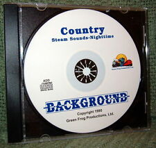 """56003 MODEL RAILROAD SOUND EFFECTS AUDIO CD """"COUNTRY NIGHT STEAM"""""""