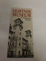 Vintage Lightner Museum Of Hobbies St. Augustine, Florida Brochure Rare EUC