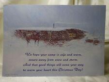 Holiday Seasonal Card Merry Christmas New Year Snow Storm Greetings Vintage