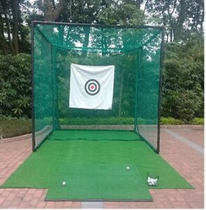 Golf/Cricket Driving Practice Steel Cage Net 3mX3m X 3m, Durable & Practical