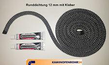 Kamintürdichtung Ofentürdichtung Kaminofentürdichtung Ofendichtung Ø 12mm+Kleber