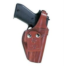 """Bianchi Pistol Pocket Carry Holster 3s Fits Belts Up to 1.75"""" Tan Leather 13763"""