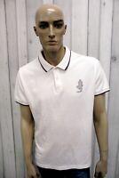 MARLBORO CLASSICS Uomo Taglia 2XL Slim Polo Cotone Casual Maglietta Manica Corta