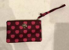 Kate Spade Pink/Red Printed Wristlet Wallet