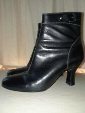 COLE HAAN Women's Ankle Boots Black Leather Booties Size 5 1/2