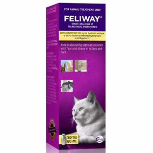 Feliway Calming Diffuser Travel Spray For Kittens & Cats 60ml (F4470)