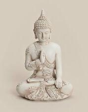 Thai Buddha Budda Figur Statue Feng Shui Asia Lotussitz sitzend wei�Ÿ ca. 20 cm