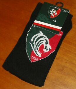 1x Pair Official Leicester Tigers Rugby Team Crest Ankle Socks Shoe Size 6-11