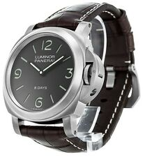 Panerai * PAM00562 Luminor Base 8 Days Titanio 44MM Men Brown Leather Watch