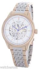 Rotary Men's Automatic Skeletonized White Dial Steel Bracelet Watch GB00161/02