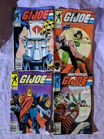 G.I. Joe A Real American Hero Lot Comics #64, 67, 69, 70, Marvel 1980s Readers