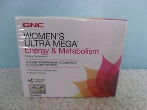 GNC Women's Ultra Mega Energy & Metabolism Vitapak 30 packs Program, EXP 04/21