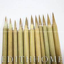 Super Fine #0- #10 Chinese Painting Brush for Sumi-e Thin Outline Brush (11pcs)