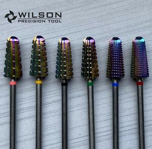 Volcano Bits -Rainbow coating WILSON Carbide Nail Drill Bit US SELLER