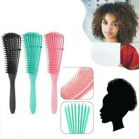 Curly Hair Brush Anti-static Detangle Shower Claws Comb Straight Salon Styling-R