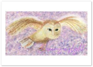 Dreams in flight barn owl art print