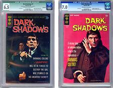 DARK SHADOWS #1-2 CGC 6.5-7.0 BARNABAS COLLINS CVRS 1960's TV HORROR SERIES 1969