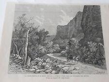 La route du Mont Ventoux traversée des Hêtres Antique Old Print 1882