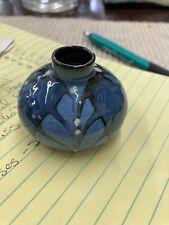 Herman A Kähler Signed Royal Blue Miniature Vase