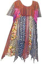 FUNKY STUFF patch sheer hanky TOP TUNIC COVERUP DRESS 1X 2X