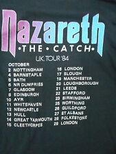 Nazareth  The Catch UK Tour 1984 Shirt USA style Made in Portugal  Medium