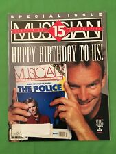 The Police, Musician Magazine 15th Anniversary Issue, August 1991