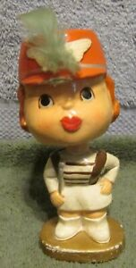1960's Cleveland Browns Brownie The Elf's Kissing Partner Nodder Bobblehead~WOW
