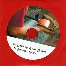 30 Glass blowing & stained glass & art books on Cd