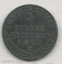 PRUSSIA, GERMAN STATE, 1872-C, 1/2 GROSCHEN, SILVER, KM#484, EXTRA FINE