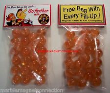 2 BAGS OF SIGNAL GASOLINE ADVERTISING PROMO MARBLES