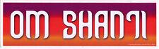 Om Shanti - Magnetic Bumper Sticker / Decal Magnet