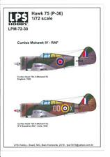 LPS Decals 1/72 CURTISS MOHAWK IV British Royal Air Force Fighter