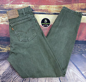Mens Vtg 90s Green Levis Orange Tab 550 Jeans Actual 32x30 Taper Relaxed Fit USA