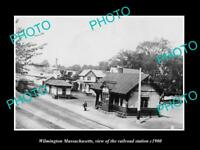 OLD LARGE HISTORIC PHOTO OF WILMINGTON MASSACHUSETTS THE RAILROAD STATION c1900