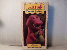 Barney & Friends PLAING IF SAFE VHS VIDEO 1992 Purple Dinosaur /Time Life RARE