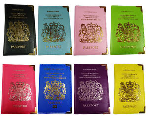 UK Passport Holder PU Leather Protector Cover Wallet