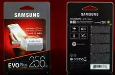 SAMSUNG EVO Plus Micro SD 256GB Class10 U3 Flash Memory Card w/SD Adapter 256GB
