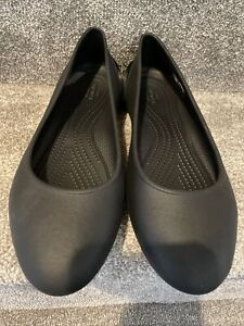 Ladies Black Crocs At Work Comfy Flat Shoes Size UK 6 (W8)