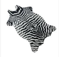 Zebra Animal Skin Hide Mat Area Rug Animal Printed Faux Carpet Rugs 75cm×110cm